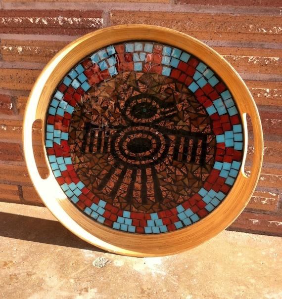 Bamboo Mosaic Tray