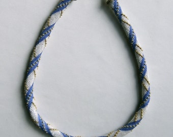 Bead Crochet Necklace Pattern:  Lady Sings the Blues (and Purples) Bead Crochet Rope Pattern