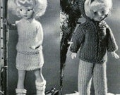 Scotch 421  Vintage Knitting Patterns for 12 inch Doll - Summer and Winter Outfits