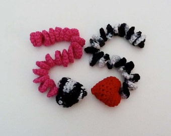 Kitty Catnip Hearts with Curlicues - Choose Your Colors