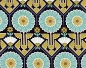 Sunflower in Lake  JD33 - Joel Dewberry - Modern Meadow - Free Spirit Fabric  - By the Yard