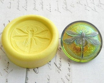 DRAGONFLY - Flexible Silicone Mold - Push Mold, Jewelry Mold, Polymer Clay Mold, Resin Mold, Craft Mold, Food Mold, PMC Mold