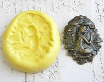 MERMAID (Extra Large) - Flexible Silicone Mold - Push Mold, Polymer Clay Mold, Resin Mold, Pmc Mold