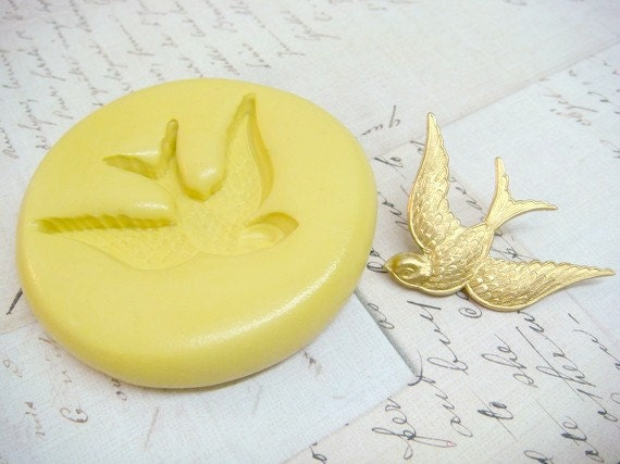 SWOOPING SWALLOW (extra large) - Flexible Silicone Mold - Push Mold, Jewelry Mold, Polymer Clay Mold, Resin Mold, Craft Mold