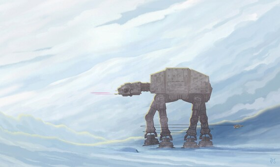 Star Wars AT-AT Walker Takedown Limited Edition Giclee Print