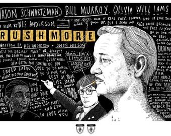 Rushmore screen print