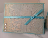 Set of 2 Blue Note Cards with Rhinestones