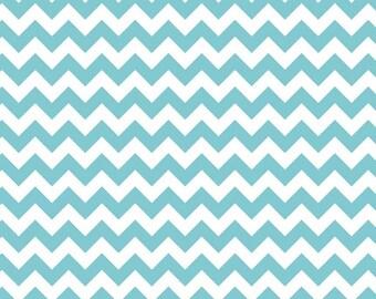 Chevron Riley Blake Designs- Small Chevron Aqua