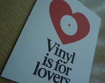 Vinyl is for Lovers Greeting Card