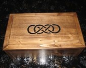 Double Infinity  Keepsake Box - Can be personalized engraved