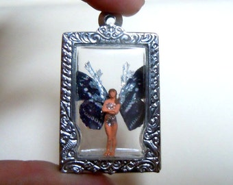 Locket with black fairy