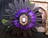 Purple Frankenstein Hair Clip