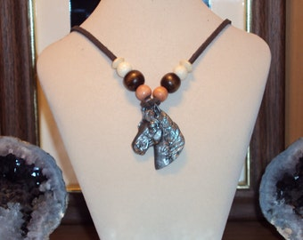 Pewter Horse Head Necklace