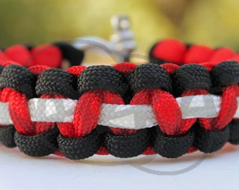 Tony Stewart Nascar Arizona Cardinals 550 Paracord Survival Strap Bracelet Anklet w/ Stainless Steel Shackle