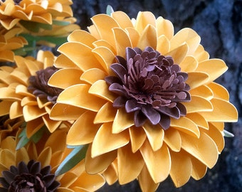 Paper Flowers - Sunflowers  - Weddings - Birthdays - Special Events - Set of 24 - Made To Order