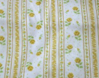 Yellow Friendship Rose Vintage Full Flat Sheet