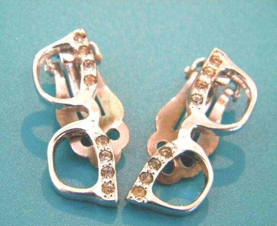 nerdy kitschy 1950s clip on eyeglasses earrings by 3438nancy