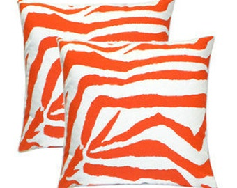 "Pillow, cushion cover 20""   zebra  pattern in black"