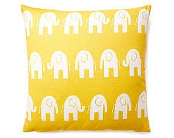 Pillow Cover Cushion 20x20 elephants modern  pattern, other sizes available, pick your color