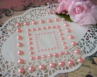Self Adhesive Nestabling Coordinates Self Adhesive Pearls in Pink For Scrapbooking Mini Albums Paper Crafts Cards Tags and DIY