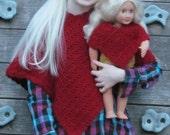 Riding Woods Doll & Me Poncho Crochet Pattern PDF 169