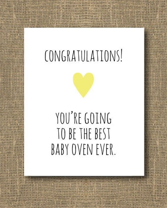 Congratulations Mom To Be Baby Shower Greeting Card Silly