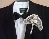 Wedding Button boutonniere, We're in the money