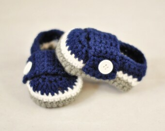 Dallas Cowboys Loafers - MADE TO ORDER - Sizes Newborn to 12 Months - Please Specify Size