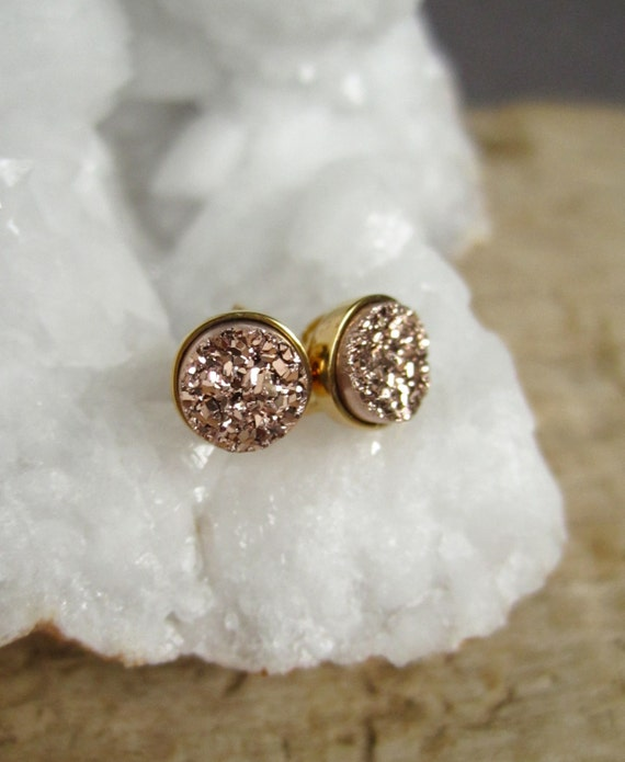 Gorgeous druzy stud earrings