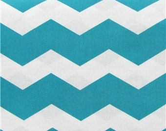 Thick Chevron - Turquoise / Teal - quilting cotton BTY