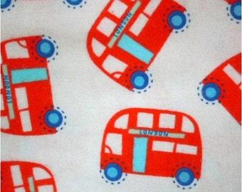 London Bus - Flannel - Fabric - 1 yard