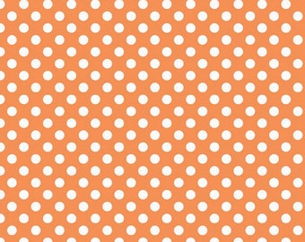 Riley Blake Orange Small Dots- 1/2 yard