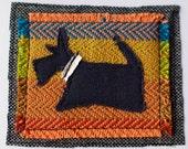 Scottie Dog Card - Orange