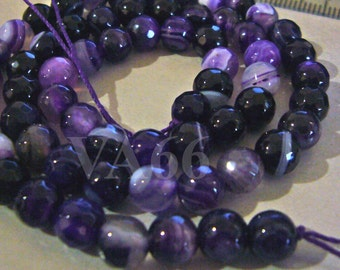 6mm Purple Dyed White Jade Line Gemstone Beads Facetted Round 15 Inches Gems Loose Beads Jewelry making supplies Feng Shui Beads Craft