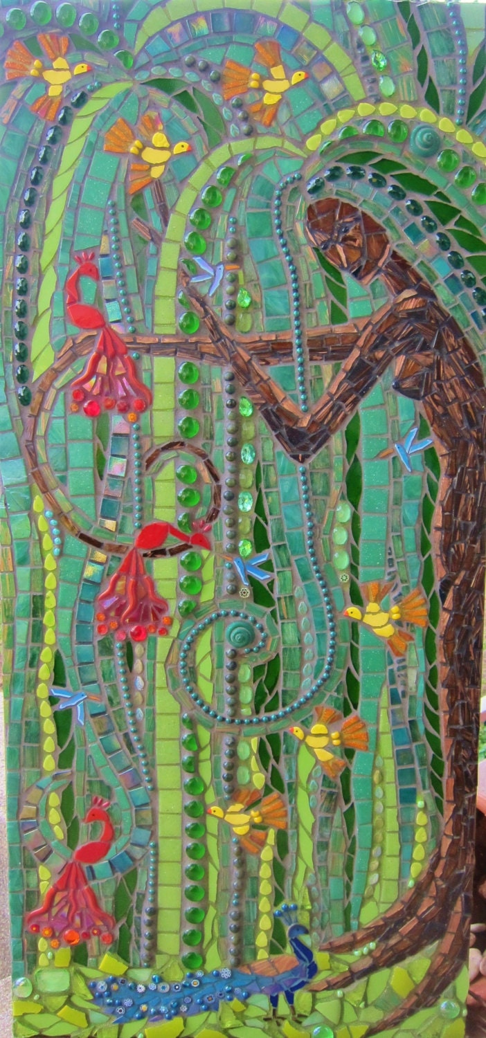 The Contented Willow Tree Goddess Mosaic