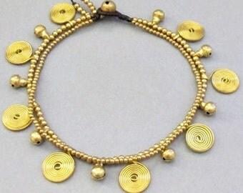 Gypsy Swirl  and Jingle Bell Ankle Bracelet