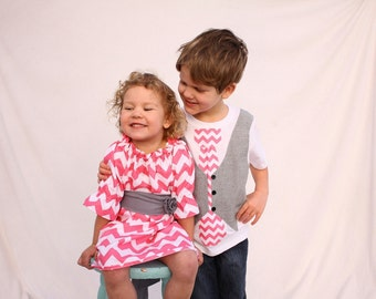 Sibling valentines day chevron outfits, Chevron easter outfits, sibling outfits, Easter outfits for sister brother