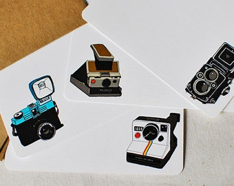 Camera Flat Note Cards- Set of 8
