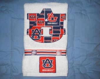 Auburn University Auburn Tigers Hand Towel Bathroom, Kitchen, Bar, Grill, Grad Gift