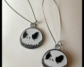 Jack Skellington Long Earrings, Nightmare Before Christmas