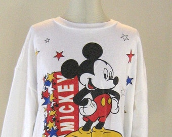 Mickey Mouse Legend Starred Sweatshirt Top 2X