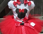 Red Minnie Mouse Tutu Set