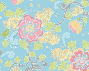Lila Tueller for Riley Blake Designs - PRISCILLA - Main in Blue - Cotton Fabric