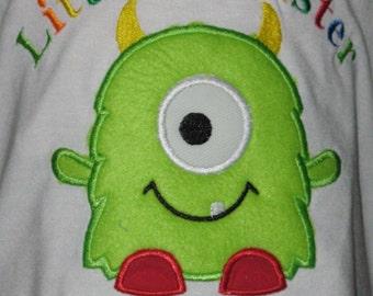 Little Monster One Eyed Monster T Shirt or Bodysuit