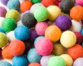 2cm Wool Felt Balls up to 30 pcs - Your Choice of Colors