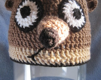 "Crochet ""Rigby"" inspired hat from The Regular Show"