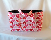 MADE TO ORDER Retro Heart Diaper Bag, School Bag, Work Bag, with Waterproof lining