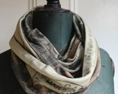Paris Postcard Organic Cotton Infinity Scarf