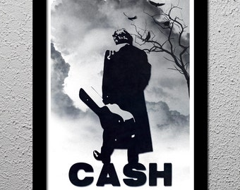Johnny Cash Original Limited Edition Art Poster Print - Country Music