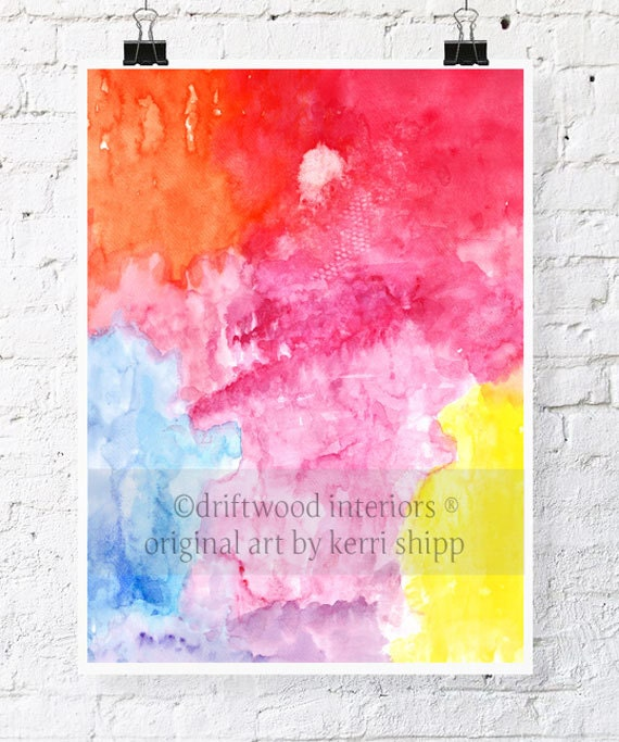 "Abstract Watercolor Print Sway 11 x 14"" - Abstract Giclee Print - Modern Abstract Watercolour Print"